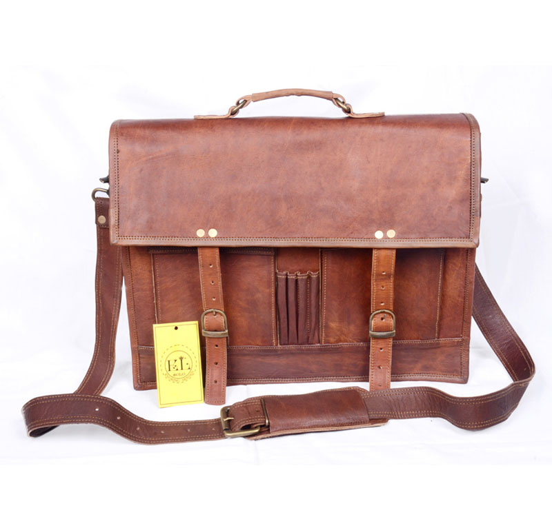 Solo vintage leather messenger bag
