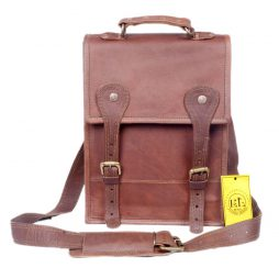Authentically styled leather office bag