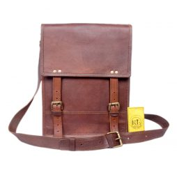 Vintage look Leather Satchel Bag