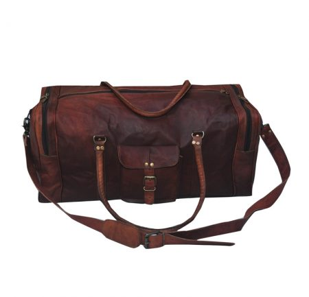 handmade leather travel bag