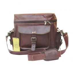 Vintage Leather DSLR Camera Bag